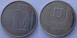 PORTUGAL 2,5 E 2008 KU-NI EURO PORTOGALLO CONTRO L' INDIFFERENZA CONTRA A INDIFERENCA - Portogallo