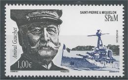 Saint Pierre And Miquelon, Admiral Gauchet, 2015, MNH VF - Nuovi