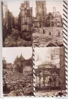 R83 Lot De 5 Photos RUINES DE SAINT MALO GUERRE 4 SCANS - Guerre, Militaire