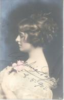ANGELINA PAGANO AUTOGRAFO DE 1905 A LOS 17 AÑOS DE EDAD YA ERA ACTRIZ - SOBRE POSTAL CIRCULADA A LA ARISTOCRATA PORTEÑA - Handtekening