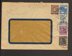 Auslandsbrief  V.28.2.48 V.Korbach Mit 10 Pfg.Ziffer U.2,6,12 U.20Pfg.Arbeiter 2 Bilder - Gemeinschaftsausgaben