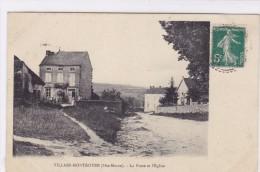 Villars-Montroyer - La Poste Et L'église - Non Classés