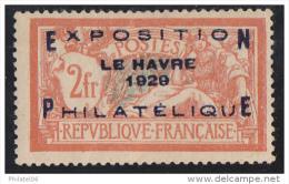 FRANCE  EXPO DU HAVRE  NEUF  CHARNIERE  SIGNE  PAS D'AMINCIS  COTE:875 EUROS - France