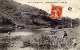 36  SAINT-GAULTIER La  Creuse Au Pré Du Chêne No1Animée,Pêcheur à La Ligne - Frankreich