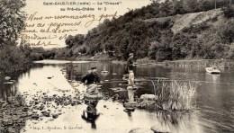 36  SAINT-GAULTIER La  Creuse Au Pré Du Chêne No2 Animée,Pêcheurs à La Ligne - Frankreich