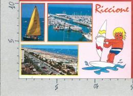 CARTOLINA VG ITALIA - RICCIONE (RN) - Vedutine - 10 X 15 - ANN. 19?? - Rimini