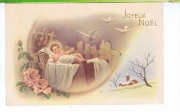 CPA-1955-ILLUSTRATEUR-NON SIGNE-JOYEUX NOËL-UN PETIT JESUS AVEC DES COLOMBES- - Weihnachten