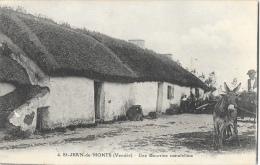 St-Jean-de-Monts (Vendée) - Une Bourrine Maraichine - Chaumière - Edition J. Nozais - Saint Jean De Monts