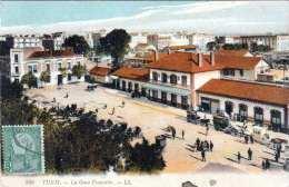 TUNIS (Tunesien) - La Gare Francaise, Gel.192? - Tunisia