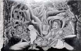 BALI (Indonesien) - Okkultistische Malerei, Fotokarte Um 1935 - Indonesien