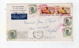 Jan16   72927   Enveloppe & Cachet    Afayette  L A 705   Par Avion - Amérique Centrale