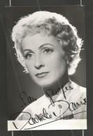 (A076) Dédicace - Autographe - Danielle DARRIEUX - Actrice Française - Format 9x14cm - Autographs