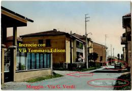 Muggiò (MONZA E BRIANZA) - Via G. Verdi Dove C'è L'incrocio Con Via Tommaso Edison - Monza