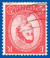 GREAT BRITAIN 1960 RARE WILDING Q.E. II PHOSPHOR 2½d. USED S.G. 614Wi  YT 330Bc  OBLIT. - Gebraucht