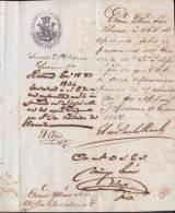 BE509 CUBA SPAIN ESPAÑA 1854 CAPTAIN GENERAL SIGNED JUAN G. PEZUELA - Autographs