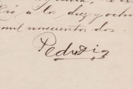 BE516 CUBA SPAIN ESPAÑA 1902 MAMBI SIGNED DOC MAYOR GENERAL PEDRO DIAZ - Autographs