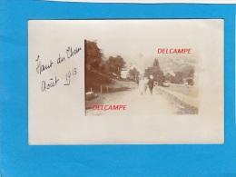 CPA Photo  -   HAUT Du THEM    Août 1913  - Entrée Du Village - France