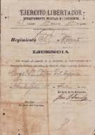BE525 CUBA SPAIN ESPAÑA 1899 MAMBI SIGNED DOC GENERAL JOAQUIN SANCHEZ VALDIVIA - Autographs