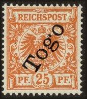 Togo (German) Scott #5, 1897, Hinged - Colony: Togo