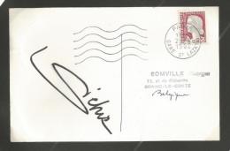 (A082) Autographe - Dédicace - Marlene Dietrich - Chanteuse Actrice - Scan1 Format 12,5x18cm + Scan2 Signature - Autographes