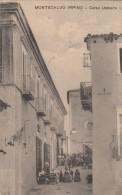 CARTOLINA: MONCALVO IRPINO - CORSO UMBERTO I. (MOVIMENTATA) -  (CAMPANIA) VIAGGIATA - F/P - B/N -LEGGI - Italia