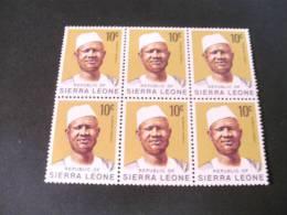 TD1140-  6 Stamps In Bloc MNh Sierra Leone 1973 -pres. SIaka Stevens - Sierra Leone (1961-...)