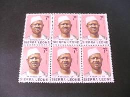 TD461-  6 Stamps In Bloc MNh Sierra Leone 1973 -pres. SIaka Stevens - Sierra Leone (1961-...)