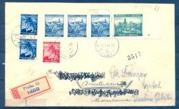 1940 , BOHEMIA Y MORAVIA , CERTIFICADO CIRCULADO ENTRE PRAGA Y AMSTERDAM , VIÑETA EXPO FILATÉLICA INT. CENSURA ALEMANA - Bohemia Y Moravia