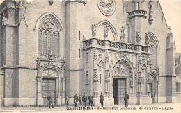 NORD  59  BERGUES BOMBARDEE  (MAI - JUIN 1915) L'EGLISE  GUERRE 14 18 - Bergues
