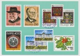ISLANDE - 4 Cartes Maximum - Fantaisies Philatéliques... Timbres Concordants Sur Cartes 1984/85 - Cartoline Maximum