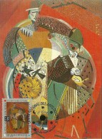 CARTE MAXIMUM - CARTE POSTALE PREMIER JOUR -  1993 - ALBERT GLEIZES - LES CLOWNS - CENTRE NATIONAL DU CIRQUE - 1990-99