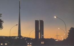 Brazil - Street Scene At Dusk, Brasilia, China's Postcard - Brasilia