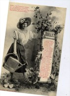 BERGERET Mois De JUILLET Calendrier - Bergeret
