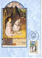 MELBOURNE THE NATIVITY MAITRE FRANCOIS 2001 MAXIMUN POST CARD  (01.16franc0103) - Maximum Cards