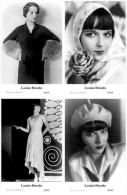 LOUISE BROOKS - Film Star Pin Up - Publisher Swiftsure Postcards 2000 SET 37-40 - Artisti