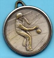 Medaille BOULE PETANQUE  Métal Argenté - Bowls - Pétanque