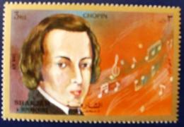 SHARJAH Musique, Chopin ** MNH. 1 Valeur - Muziek