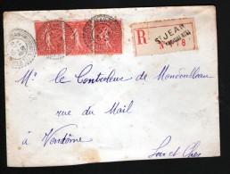 LETTRE CHARGEE DE 1930  DE ST JEAN FROIDMENTAL, LOIR ET CHER, CACHETS FACTEURS BOITIERS - Other