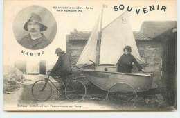 Globe Trotteur Marius - Bateau Marchant Sur L'eau Comme Sur La Terre - Famous People