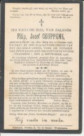 Doodsprentje WOI - Soldaat Filip Jozef CEUPPENS ° Heist-op-den-Berg 1896 - Gesneuveld Yvoire (Fr) 25/9/1918 - Religione & Esoterismo
