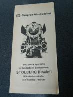 Dampflok-Abschiedsfest - Am3. Und 4. April 1976 Im Bundesbahn-Bedriebswerk - Stolberg - Europe