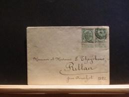 A5222  LETTRE DE VERVIERS  POUR RILLAER  PAR AERSCHOT - 1893-1907 Wapenschild