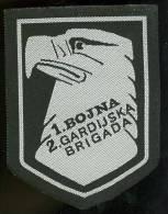 Patch CROATIAN  ARMY   Bosnia  HVO   1.bojna  2. Gardijska Brigada - Patches