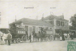 Argenteuil - La Gare (fac-similé Publicitaire) - Argenteuil