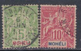 Mohéli N° 5 O Type Groupe :   10 C. Rouge Oblitération Moyenne Sinon TB