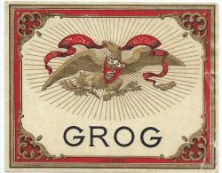 "Etiquette/Chromo//Vins Spiritueux Sirops/"" GROG""/ Jouneau/Paris/vers 1915     ETIQ66 - Rhum"