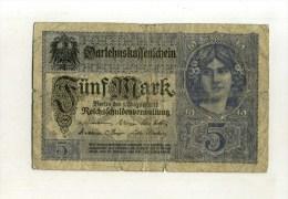 - ALLEMAGNE EMPIRE . BILLET 5 M. 1917 . - [ 2] 1871-1918 : Imperio Alemán