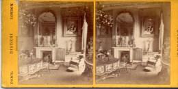 Stereofoto - The Small Drawing Room  - Le Petit Salon Ca 1890 - Stereoscoopen