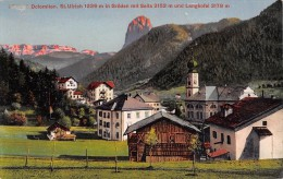 """03490 """"(BZ) ORTISEI - DOLOMITEN ST, ULRICH 1236 M. IN GRODEN MIT SELLA 3152M. M UND LANGKOFEL 3178 M."""" CART. NON  SPED. - Bolzano (Bozen)"""
