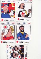 Hergé - Tintin - Série Complète Stickers Croix Rouge1984 - Wholesale, Bulk Lots